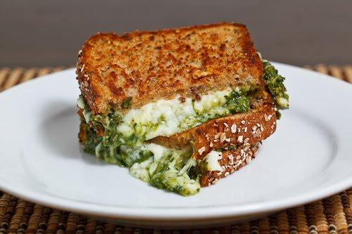 Pesto Cottage Cheese sandwich