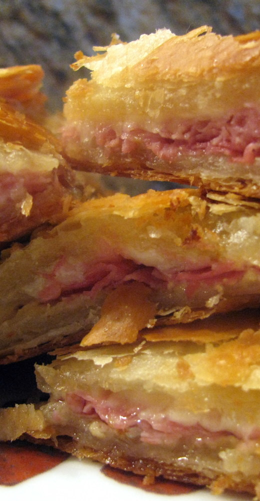 Puff Pastry with Ham and Cheese