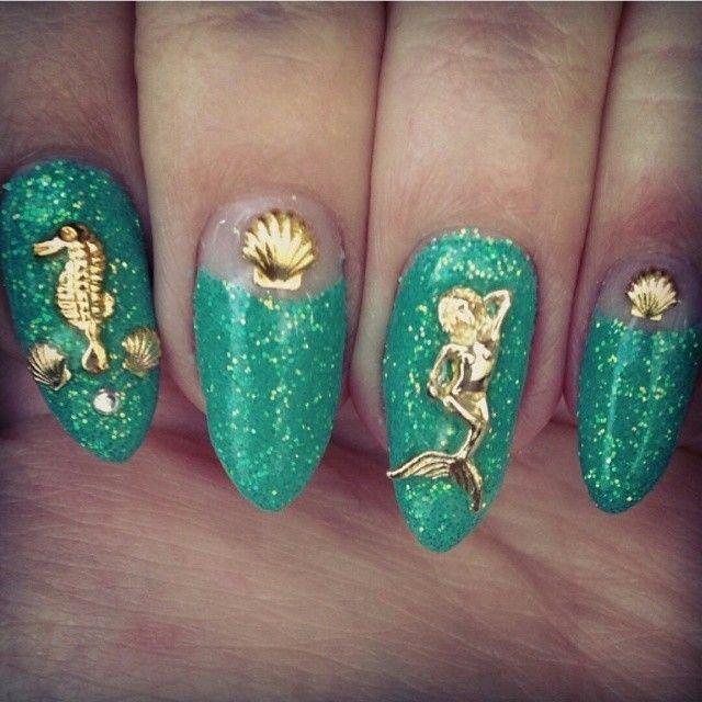 Mermaid Nail Art Acrylic Nails: Spring's Mermaid Trend In Beauty